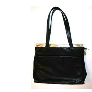 Fred Hayman Beverly Hills Black Leather purse NWOT